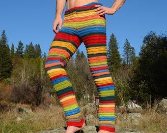 Crochet Pants Super Soft Stripes