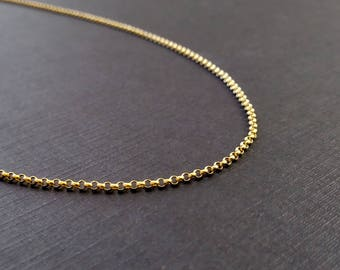 "1.2mm ROLO - 5"", 6"", or 7"" - 14k Gold Filled Rolo Chain - Gold Chain Bracelet Women Gifts - Anklets for Women - Anklet Bracelet Chain"