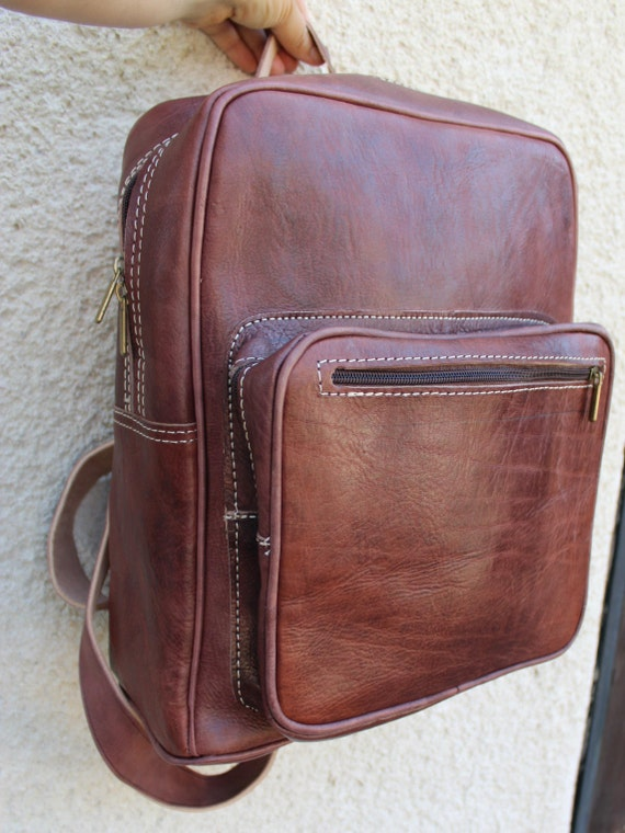 Leather Backpack! Weekender/Big Backpack/Many colours/Backpack from  genuine cowhide, Unisex leather bag,zaino/burgundy bag, unisex backpack