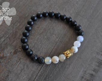 Bracelet pour homme - Pierres naturelles - Buddha - Yoga - Coco Matcha