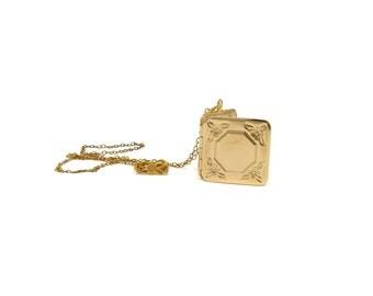 Vintage 12K Gold Filled Locket Necklace in Original Box Mint
