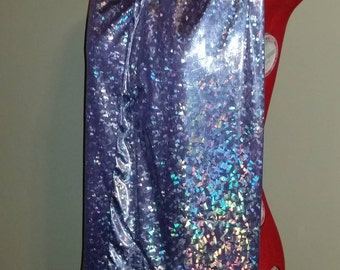 Adult Clothing Protector, Shirt Saver, Dining Scarf - Shiny Purple Pink Iridescent - Sparkle scarf