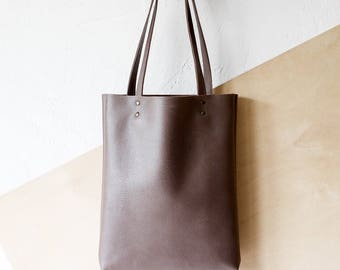 Xmas in July SALE Mocha Leather Tote bag No.Tl- 9061
