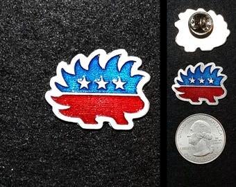 Libertarian 1 in. Pewter Lapel Pin or Magnet