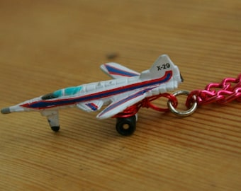 Jet Airplane Micro Machine Car Pendant