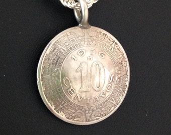 Vintage Mexican coin pendant
