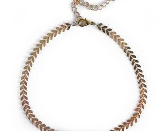 Gemstone Choker, Gold Bar Choker, Moonstone Choker, Chevron Delicate Necklace, Modern Choker Necklace, Modern Choker Necklace, Gifts for her