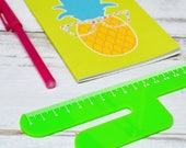 Cactus Ruler 15cm   Novelty Stationery   Personalised Cactus Stationery   Laser Cut Green Ruler   Desk Stationery   Back to School Office