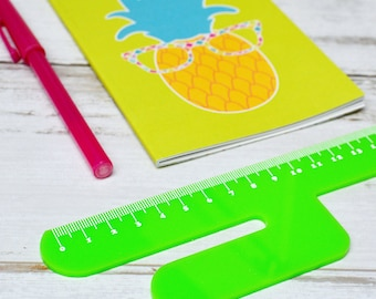 Cactus Ruler 15cm | Novelty Stationery | Personalised Cactus Stationery | Laser Cut Green Ruler | Desk Stationery | Back to School Office