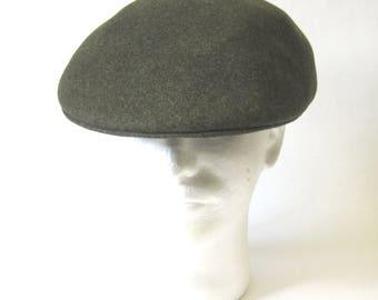 Golf Cap Olive Green Wool Hat Wilstaff Made In England