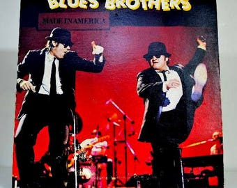 Vintage Blues Brothers Made in America Vinyl Record Album 1980 Joliet Jake and Elwood