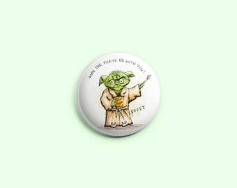 May The Farts Be With You ~ Purrfect Pinback Button
