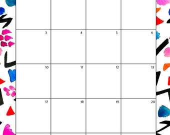 FREE September 2017 Printable Calendar Agenda Planner | DIY Digital Download Print