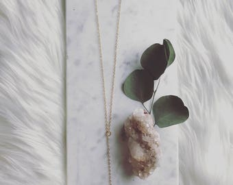 raw amethyst adjustable necklace