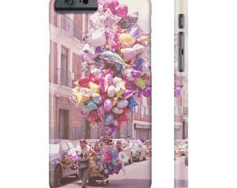 Balloons Phone Case, Pink Balloon, Carnival Rides, Festival, Pink Phone Case, iPhone 8 Case, Galaxy S7, iPhone 7, All US Phone cases