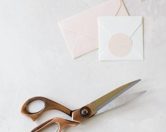 "Rose Gold Vintage Finish Metal Crafting Scissors - 8"""