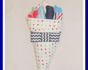Baby Boy Red, White, and Blue Clothing And Washcloth Flower Bouquet-Beautiful Baby Shower Or Gift Idea