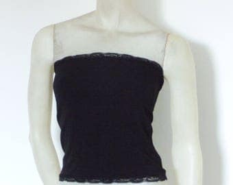 Basic Tube Bandeau Top black Tango Top Size US 0-8 EU 34-38  Tango Chamise Evening Top Stunning Gothic Look