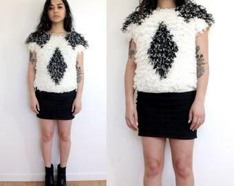 Fuzzy Textured Knit Sweater
