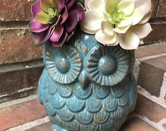 Large Owl Planter / Utensil Holder