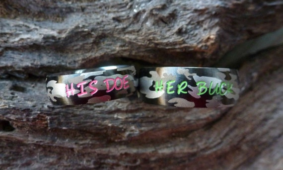 like this item - Pink Camo Wedding Ring Sets