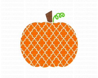 Moroccan Pumpkin SVG, Pumpkin SVG, Fall SVG, Thanksgiving Svg, Halloween Svg, Svg Files, Cricut Cut Files, Silhouette Cut Files