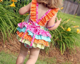 Baby Jaimesyn's Ruffle Bottom Romper PDF Pattern Sizes Newborn to 18/24m
