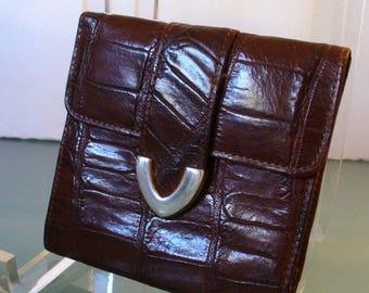 Fossil Alligator Embossed Leather Wallet