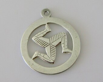 Sterling Silver Isle of Man Charm or Pendant