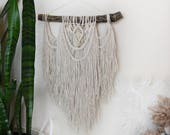 Macrame Wall Hanging Boho Tapestry / Bohemian Hippie Tree Branch Hanging Home Decor
