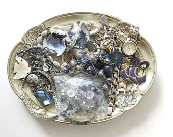 GORGEOUS vintage DeStash Lot! Awesome Price!! GORGEOUS Costume jewelry lot, salvage, supply lot, bead lot, up cycle,repair, repurpose LOT C2