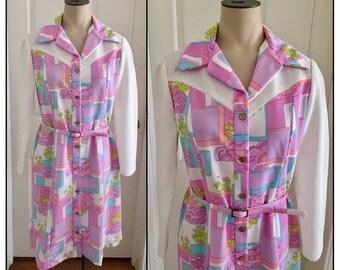 Vintage 1970s It's Better Misses' Polyester Knit Dress 2 4 6