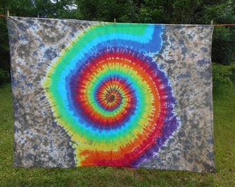 Rainbow Spiral Tie Dye Wall Tapestry #195