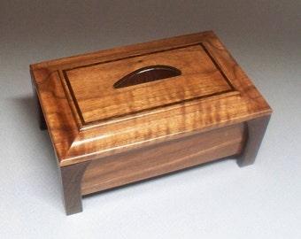 Walnut & Wenge Leg Box- Lacquer Finish, Treasure Box, Home Decore, Trinket Box, Small Wooden Box, andcrafted  Gift Idea