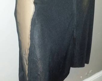 Unique sexy  black skirt with sheer side panels  sm med lg xxl
