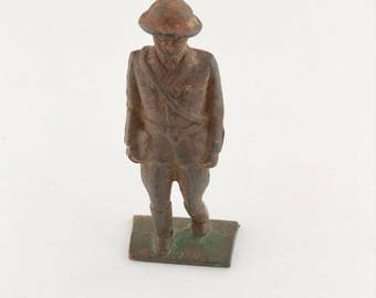 Lead Toy Soldier - Toy Lead Figure - World War Collectible Lead Soldier from the 1940s-1950s