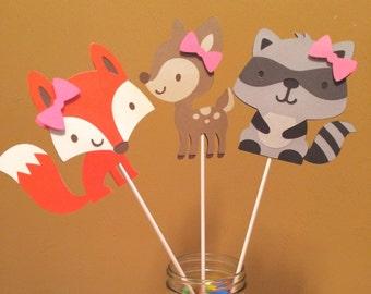 Woodland Animals Centerpieces (set of 2)