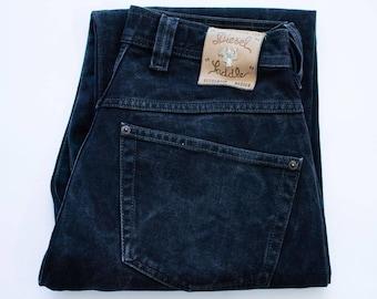 Vintage 90's Diesel Saddler Jeans Loose Fit Black Button Fly W 32 L 31