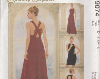Evening Dress Pattern McCalls 9074 Sizes 12, 14, 16 Uncut