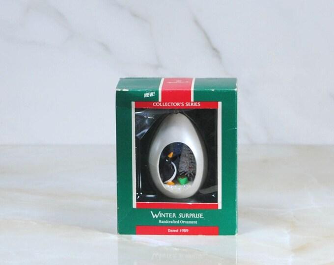 Vintage Hallmark Ornament, Winter Surprise, Christmas Ornament
