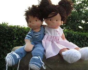 Laura's three dolls ,waldorfinspired doll,handmade,birthdaygift