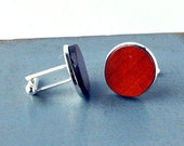 Upright Bass Wood Cuff Links