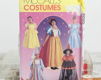 Child Sizes 7, 8, 10, Story Book Costumes, Cinderella, Snow White, Belle, Repunzil, McCall's  (8895) Sewing Pattern