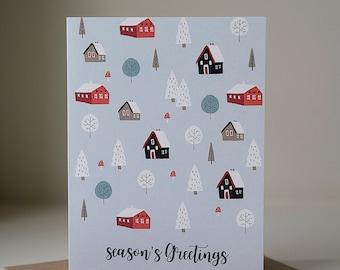 Holiday Card, Holiday Greeting Card, Christmas Greeting Card, Blank Card, Seasons Greetings, Blank Christmas Card, Neutral Holiday Card