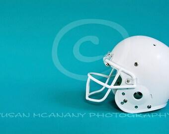 Football Helmet Photo, Helmet Clipart, Sports Photograph, Digital Download, Scrapbooking, Sports Clip Art, White Helmet Clipart, Protection