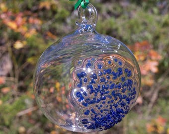 OOAK Hand blown Borosilicate Glass Christmas ornament 169