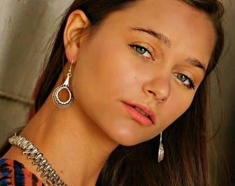 Iekika Statement Earrings Gypsy Jewelry Boho Jewelry