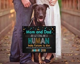 Dog Pregnancy Announcement, Pet Pregnancy Announcement, Doggy Pregnancy Reveal, Best Friend Coming Soon, Printable File, Custom Colors