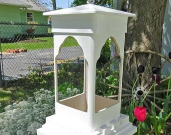Unique PVC bird feeder, hanging feeder, suet holder, ez clean,Taj Diner, succulent planter, small birdfeeder, LED lantern, Made in USA
