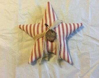 Rustic Christmas - Christmas Star Ornaments - Christmas Bowl Fillers -  Christmas Ornaments - Primitive Ornaments -  Farmhouse Style